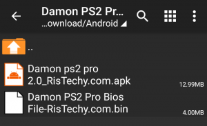 Damon PS2 Pro Apk + bios file
